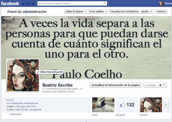 Beatriz Escribe FACEBOOK