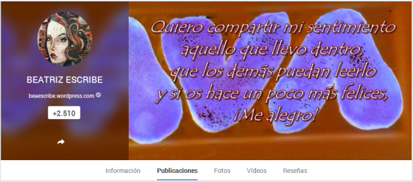 BEATRIZ ESCRIBE- Google+