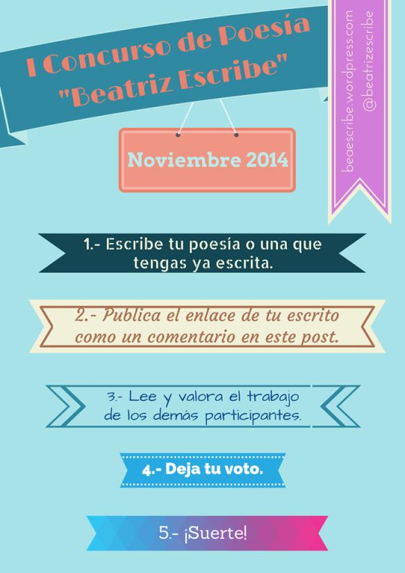 """I Concurso de poesía""""Beatriz Escribe""""."""